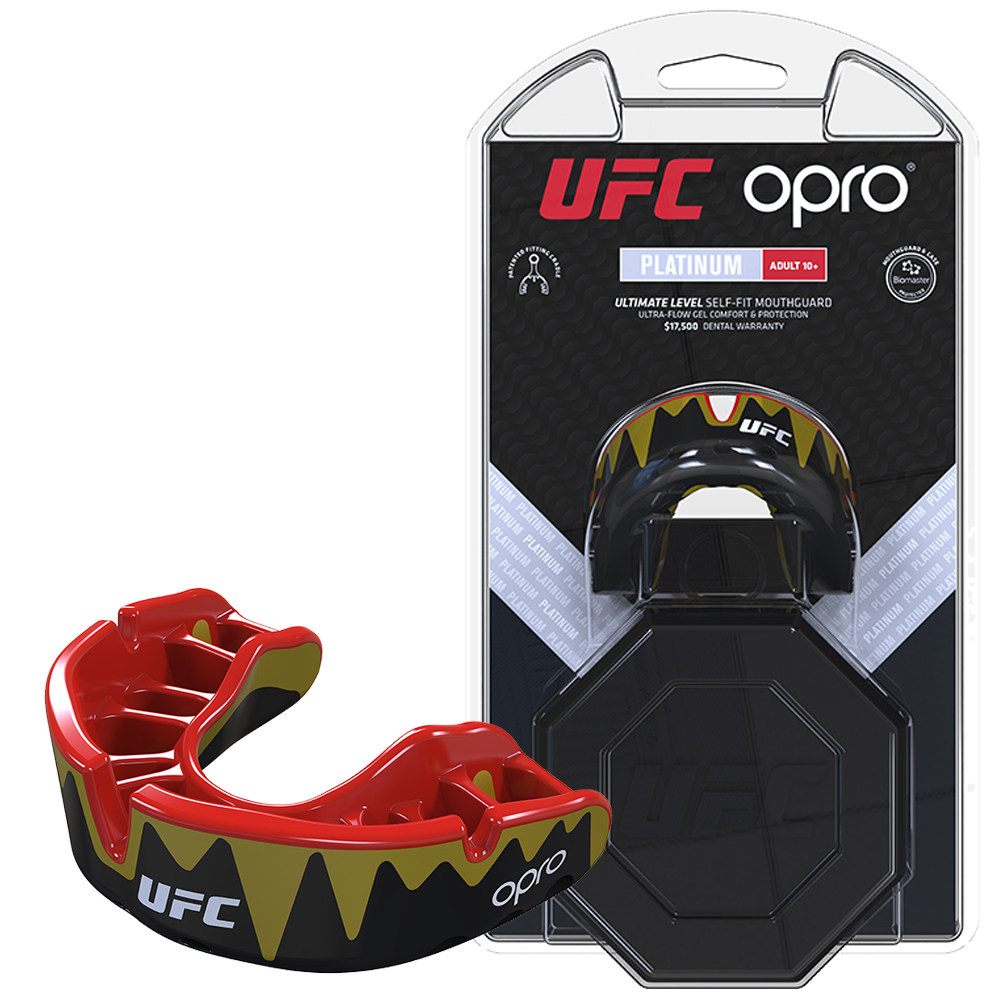 UFC Platinum Fangz Mouthguard by Opro