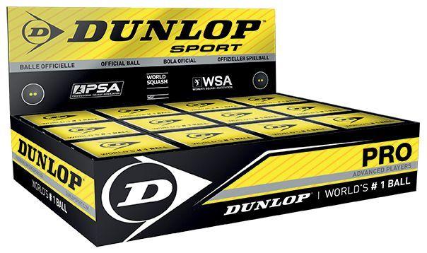 Dunlop Pro Squash Balls (1 Ball Box 12)