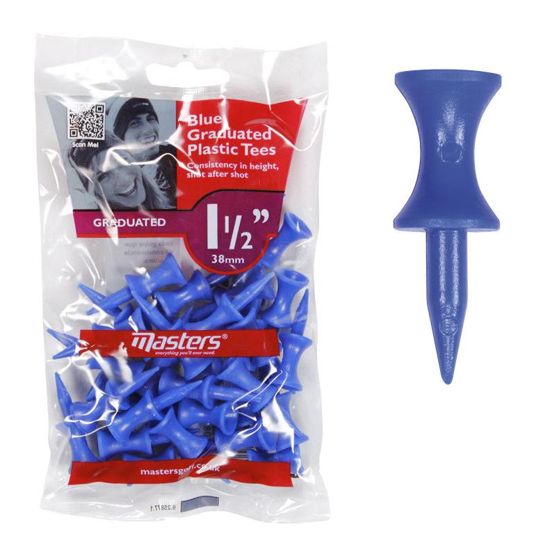 Masters Plastic Graduated Tees (Bag of 30)