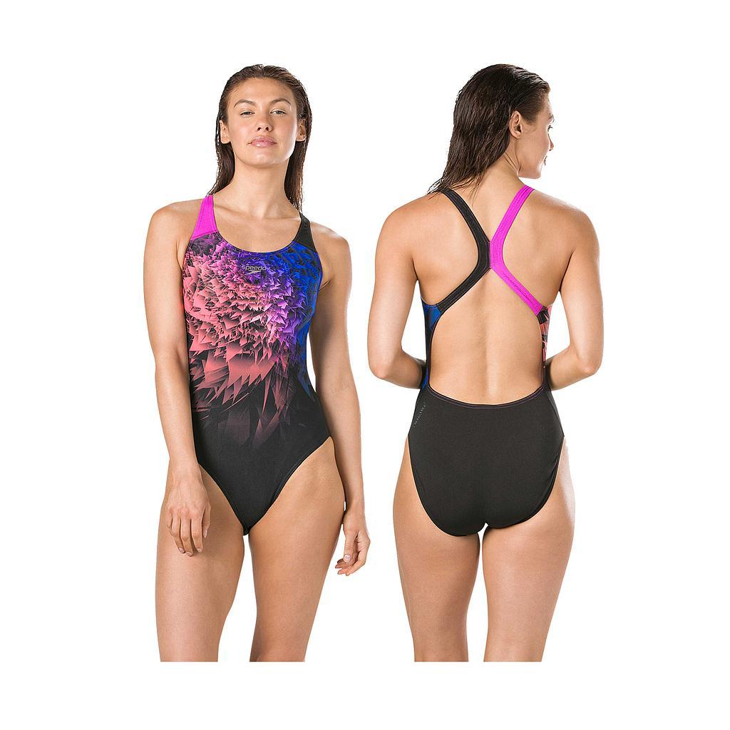 Speedo NeonWhizz Powerback Swimsuit