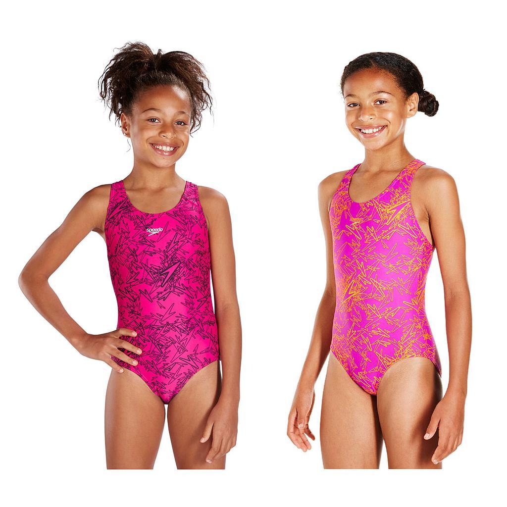 Speedo Boom Allover Splashback Swimsuit Junior
