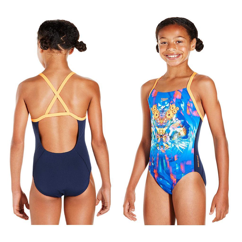 Speedo Dreamscape Fusion Placement Crossback Swimsuit Junior