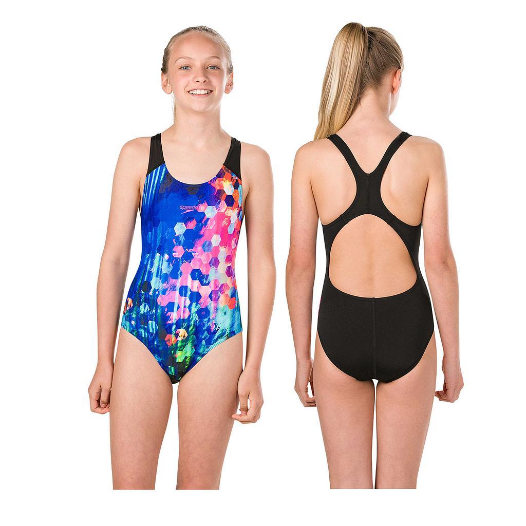 Speedo PopFlash Splashback Swimsuit Junior