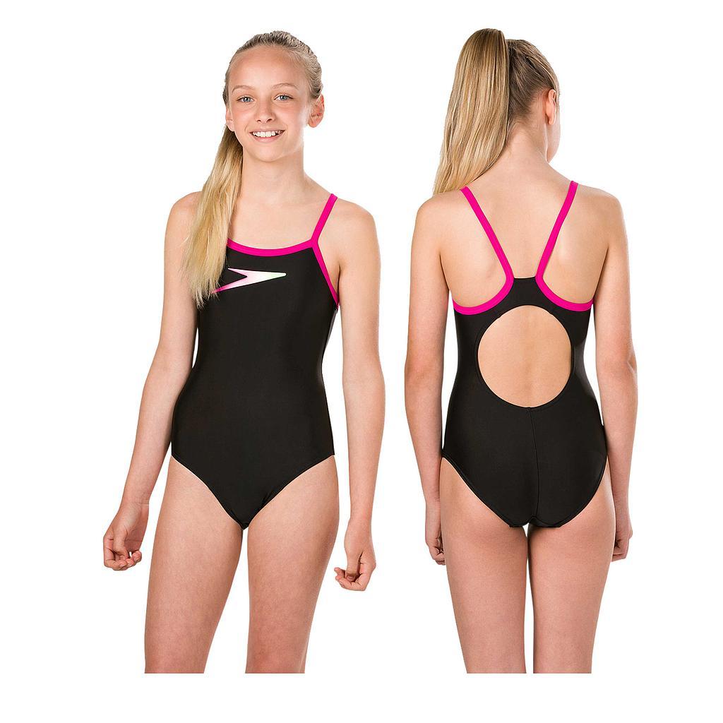 Speedo Boom Placement Muscleback Swimsuit Junior