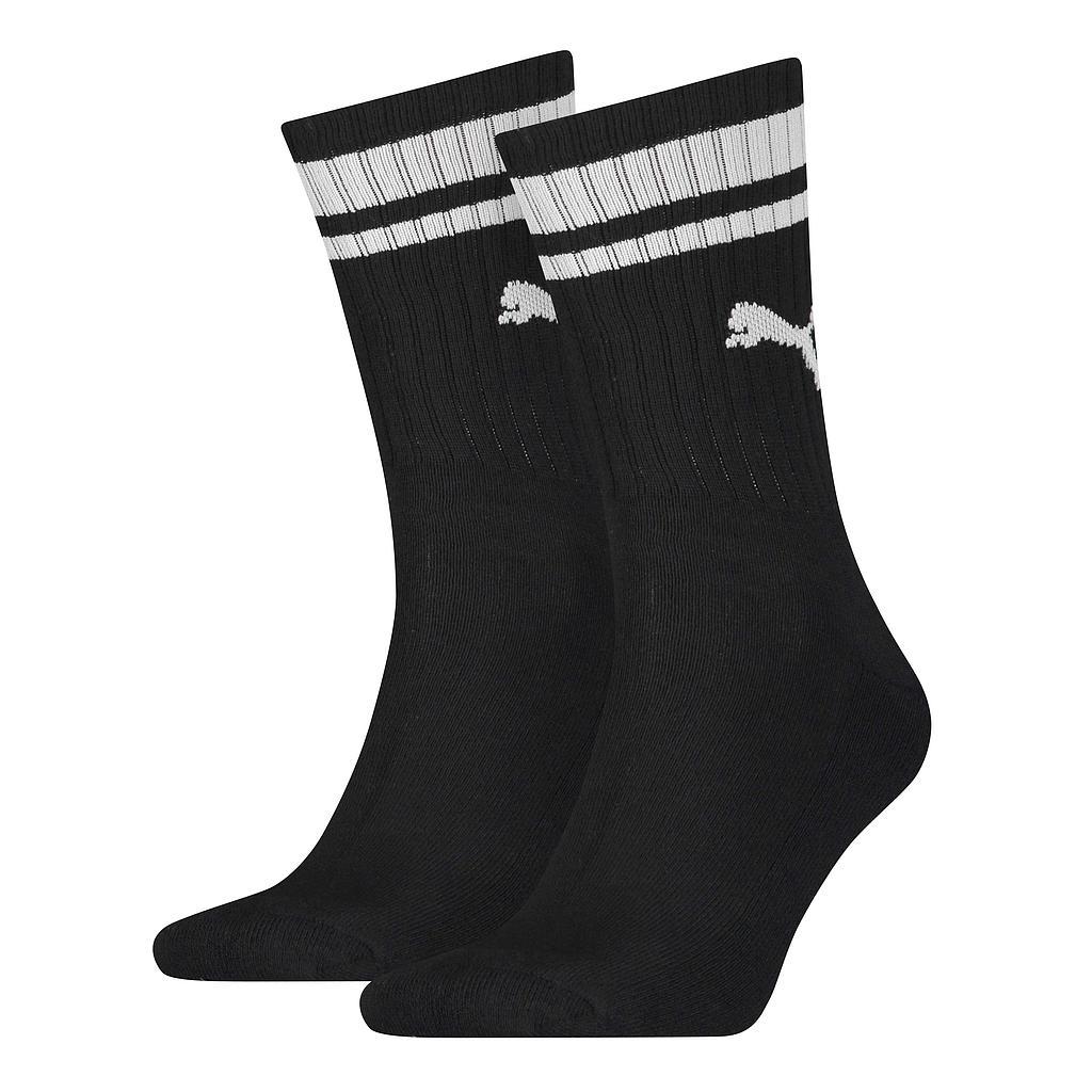 Puma Crew Heritage Stripe Sock (2 Pair)