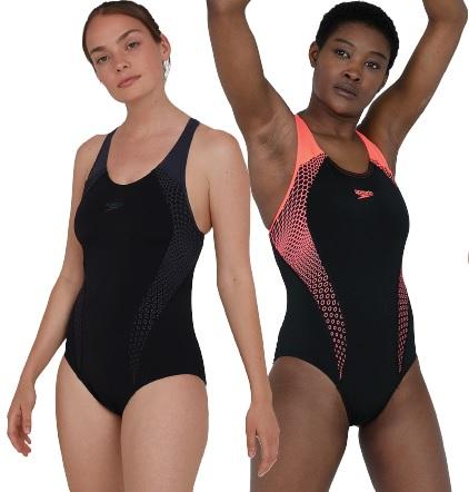 Speedo Placement Laneback Swimsuit