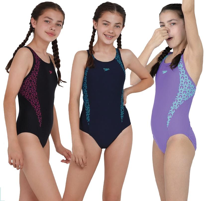 Speedo Boomstar Splice Flyback Swimsuit Junior
