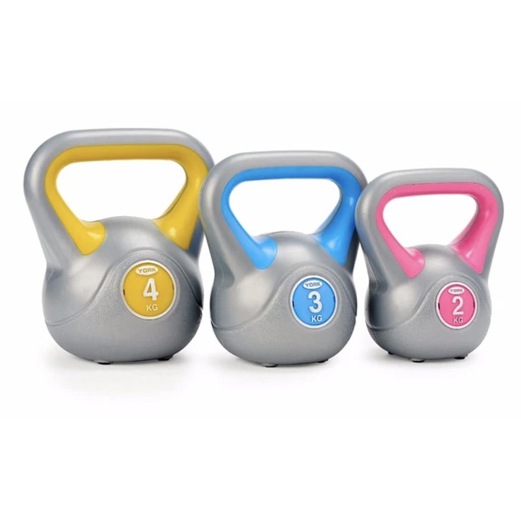 York Fitness Kettlebell Set (1x2kg,1x3kg,1x4kg)