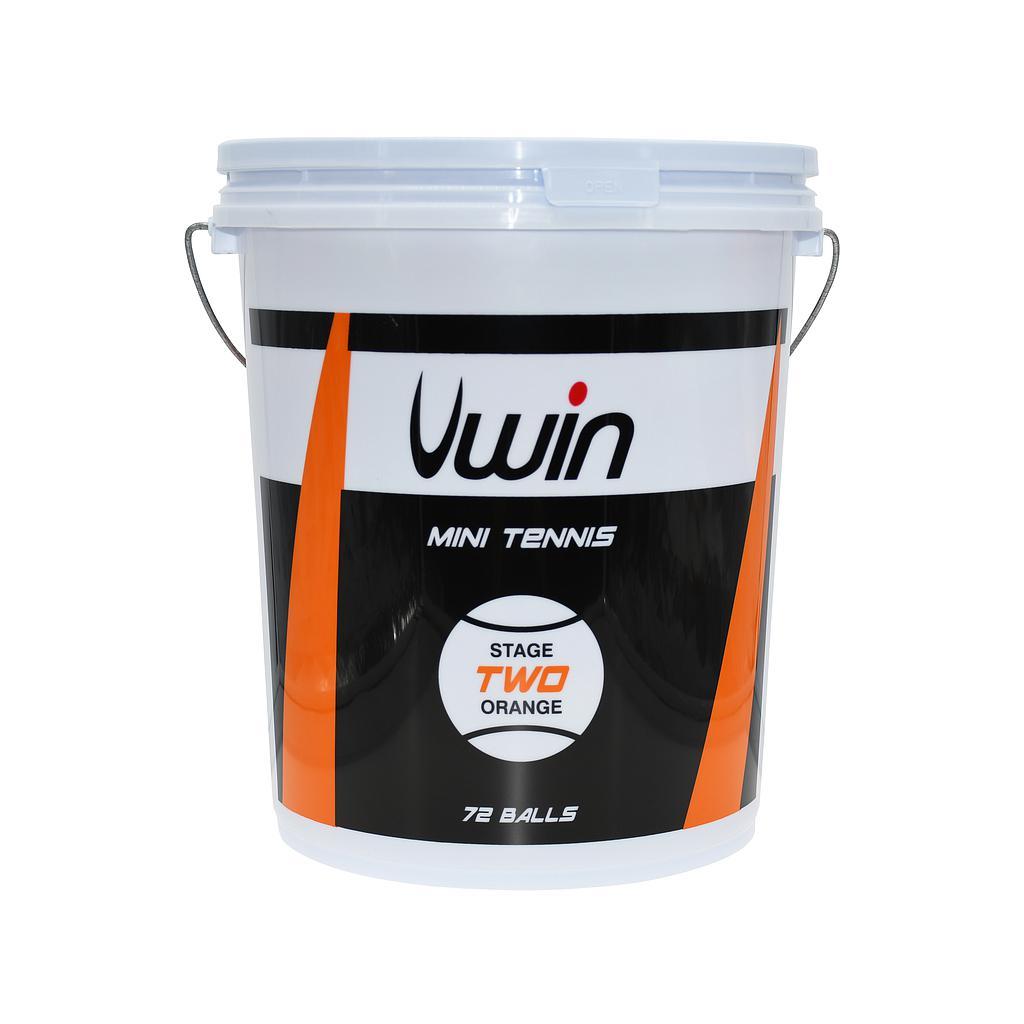 Uwin Stage 2 Orange Tennis Balls - Bucket of 72 balls